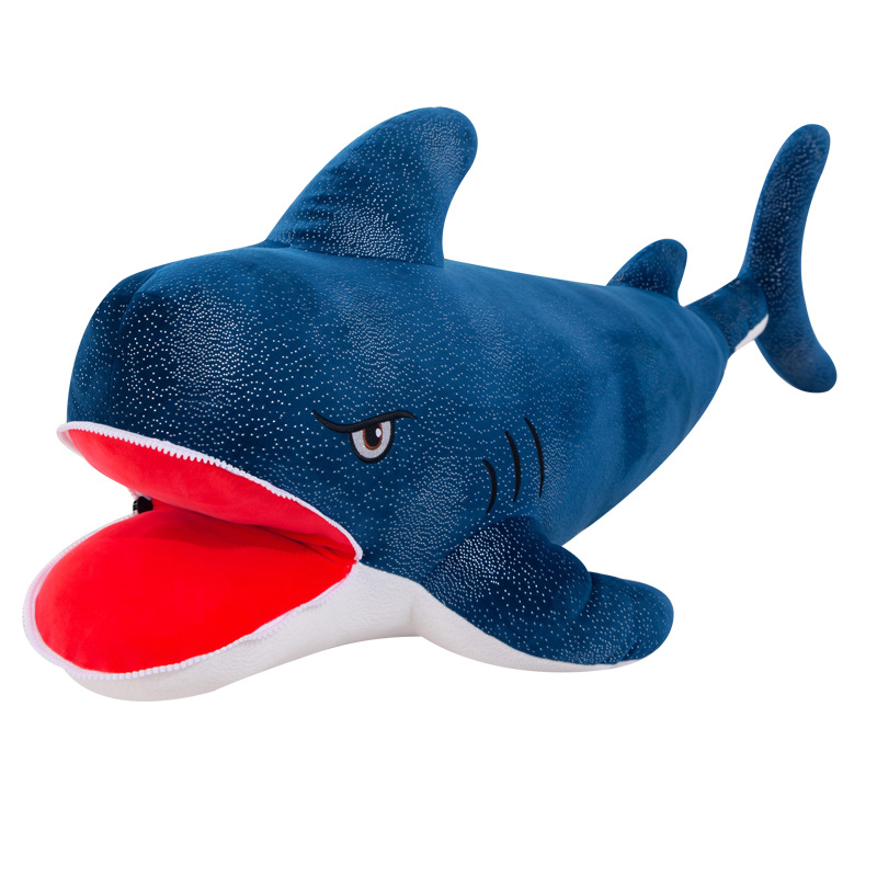 Angry Zip Mouth Shark Plushie
