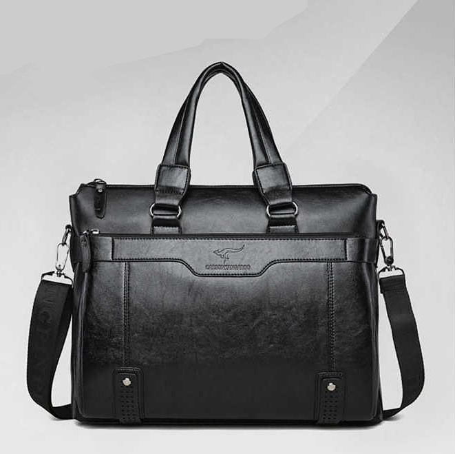 Nifty Pure-Colored Messenger Bag with Adjustable Shoulder Strap for Business Meetings