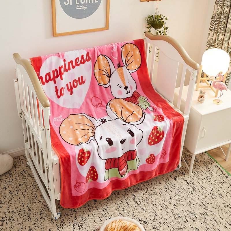 Adorable Animal Polyester Blanket for Kids