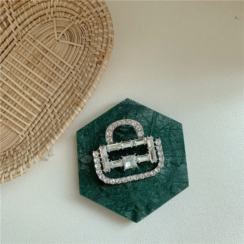 Bedazzled Handbag Pin for Luxurious Events