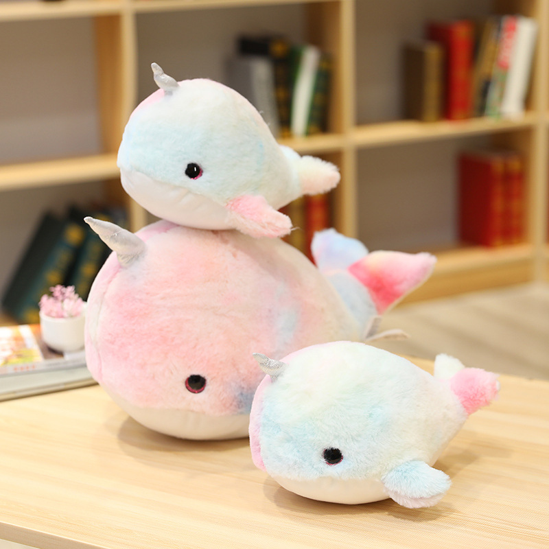 Whimsical Pink Whale Plushie