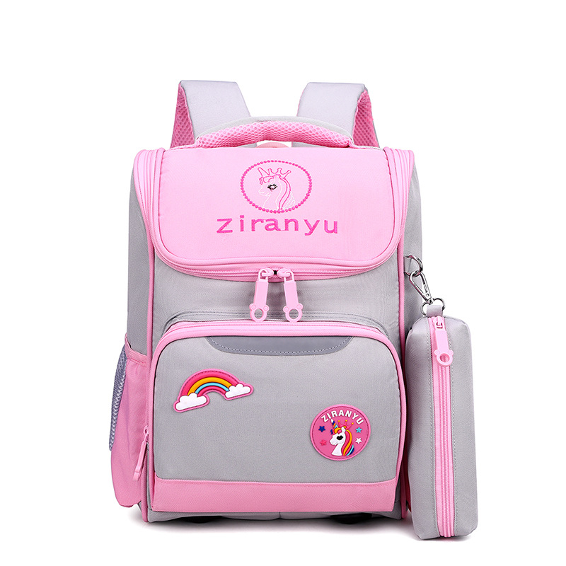 Lightweight Nylon Fabric Backpack for Elementary Boys And Girls