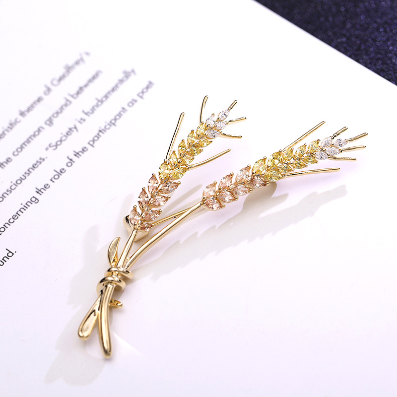 Pink Gradient Fern Pin
