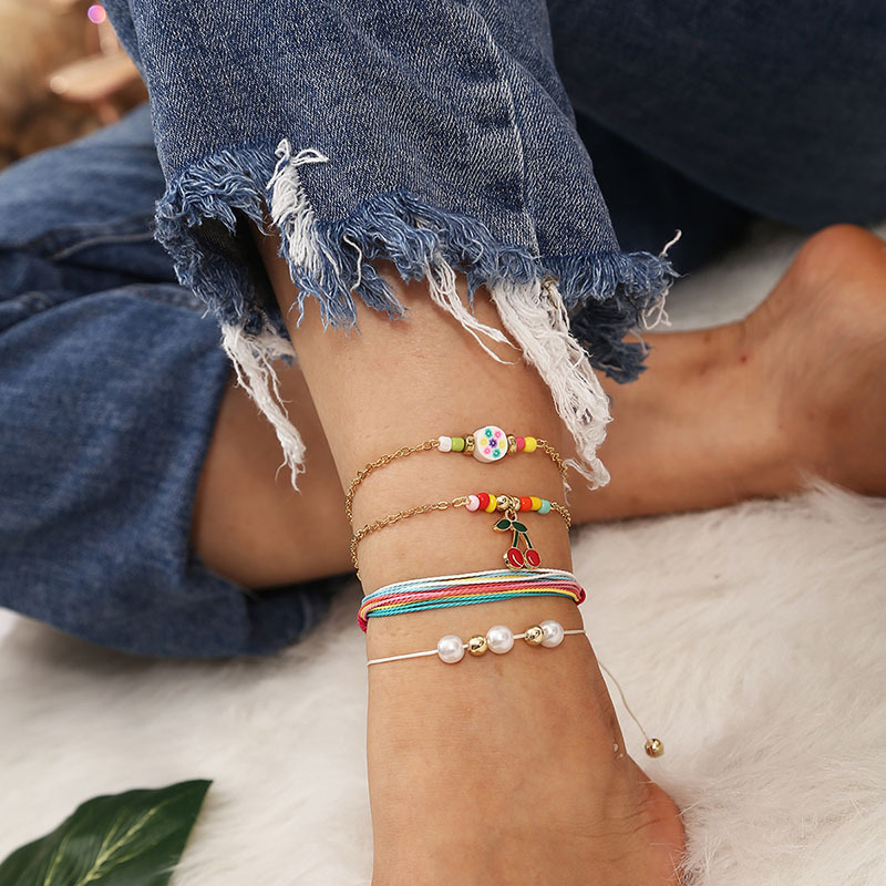 Fun Colorful Anklet Sets for Mix-and-Match Accessories