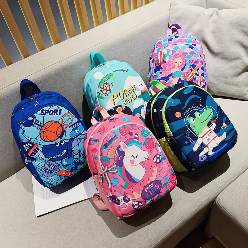 Delightful Oxford Cloth Cartoon Backpacks for Little Boys and Girls