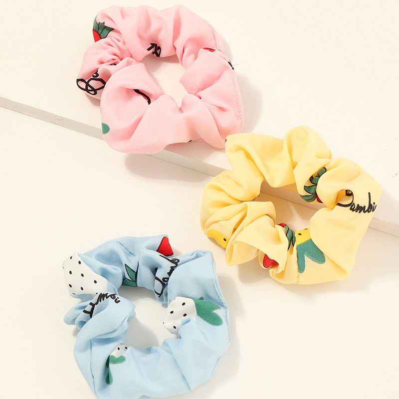 Pastel Printed Scrunchie for Kids Hairstyles