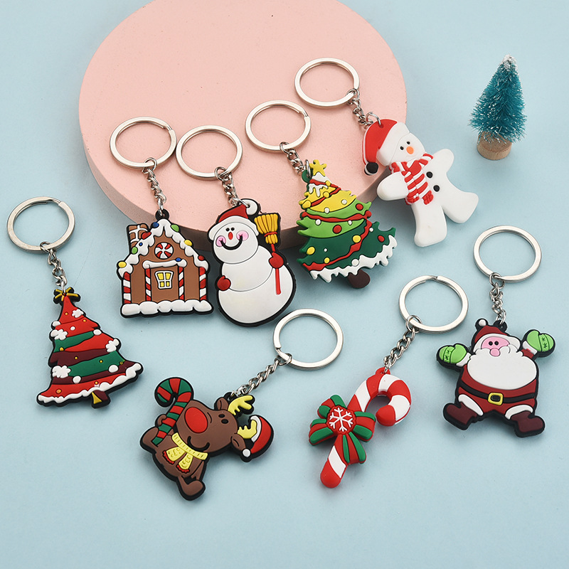 Lovable Soft Christmas Keychain for Personal Use