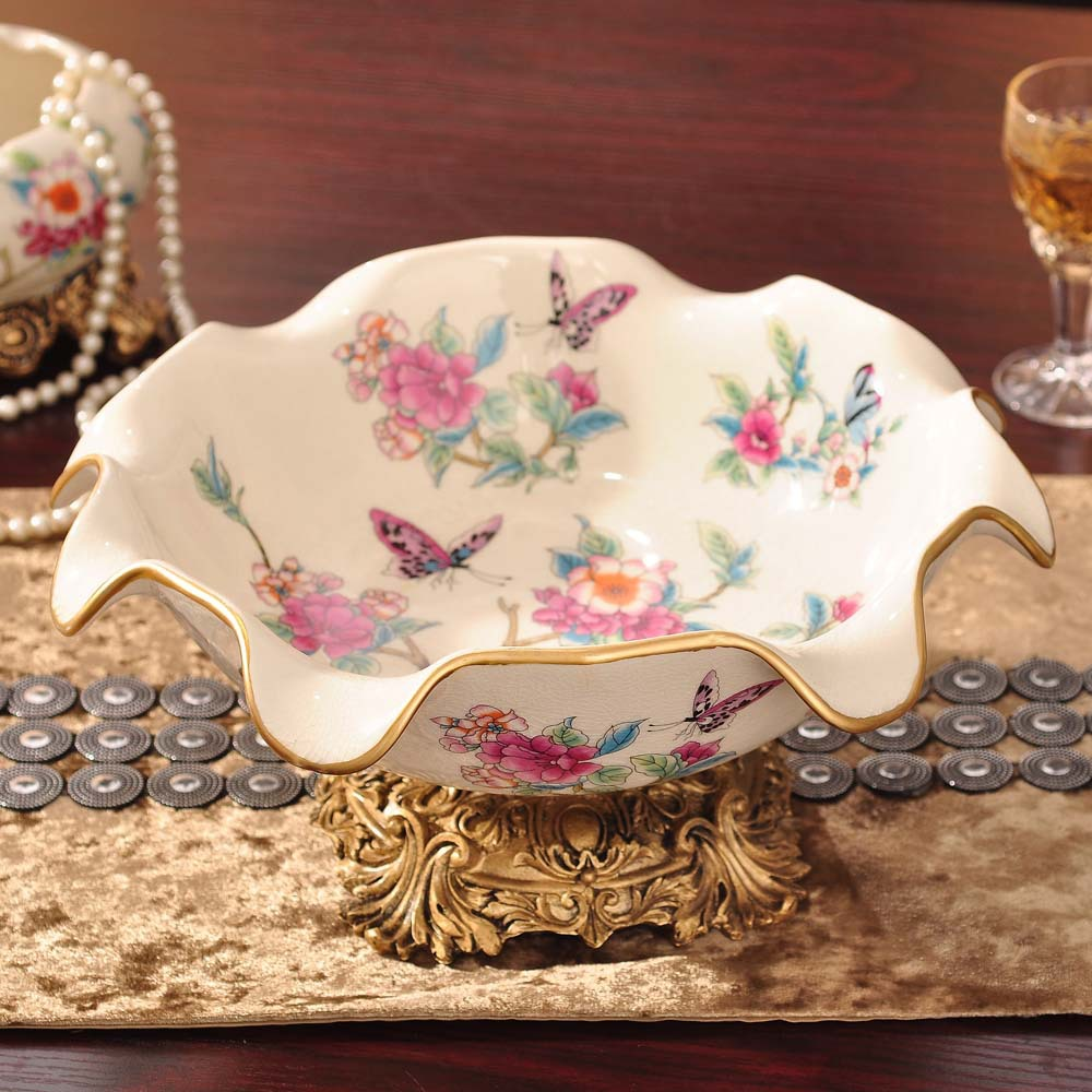 Luxurious Floral Fruit Plate for Housewarming Gift