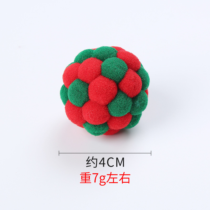 Handmade Multi-Colored Pets Ball for Pets Interactive Training Supplies