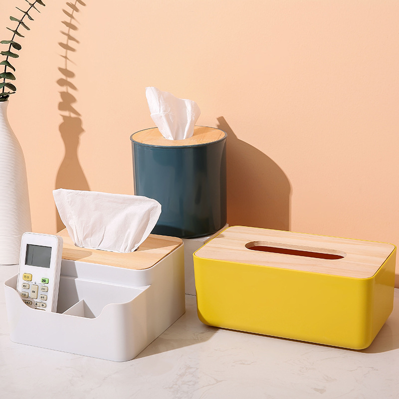 Creative Bamboo Storage for Tissue and Paper Towels