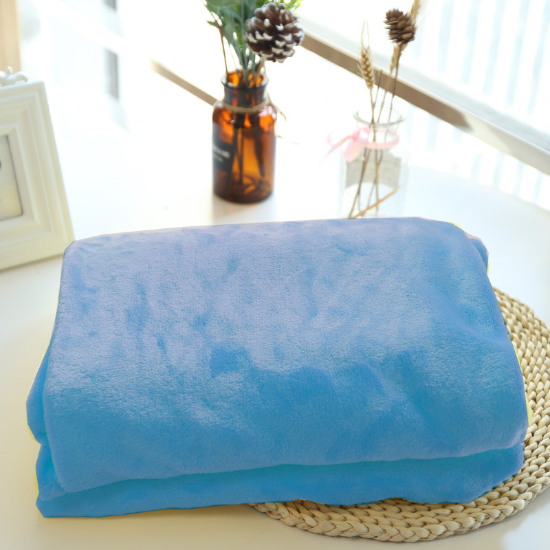 Homey Colored Plush Blankets for Coziness