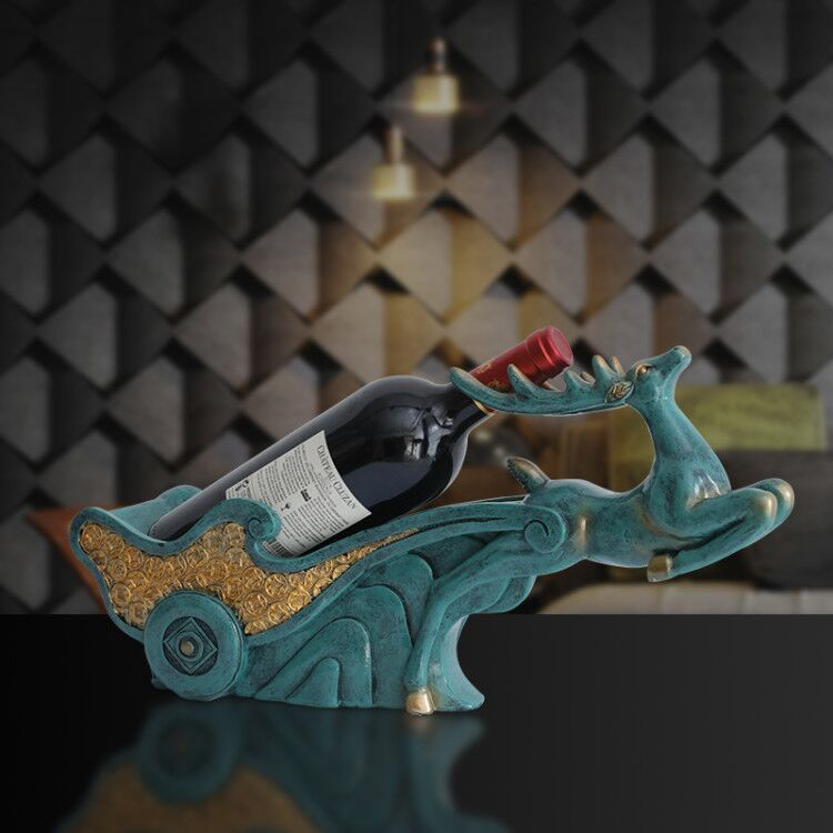 European Style Animal Decorative Wine Holder for Home