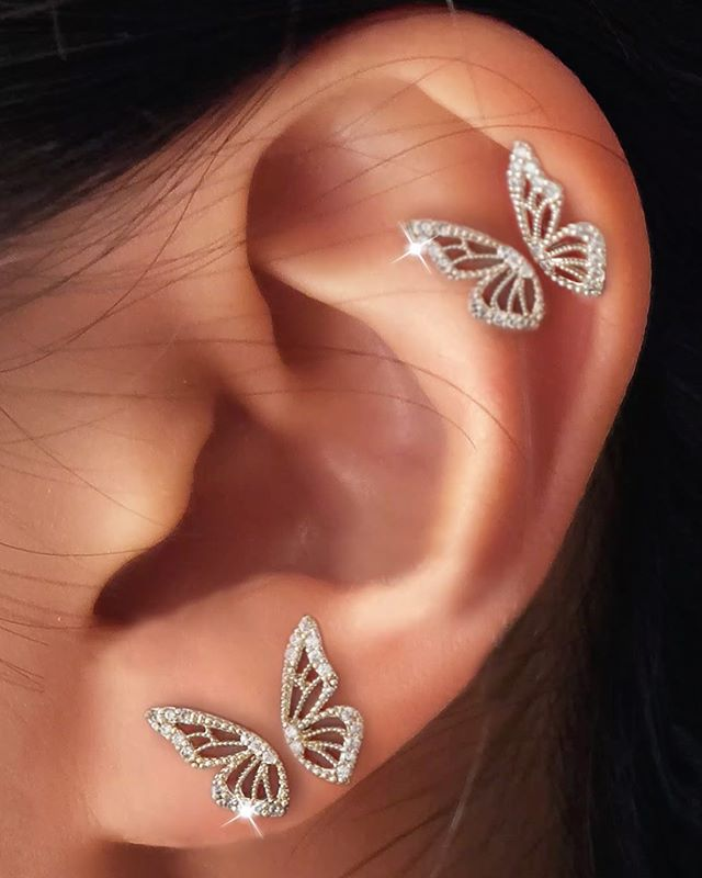 Stunning Butterfly Metal Earrings for Sweet Chic Looks