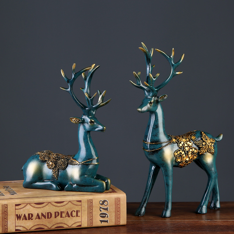 Luxury Deer Pair Accessory for Home Design