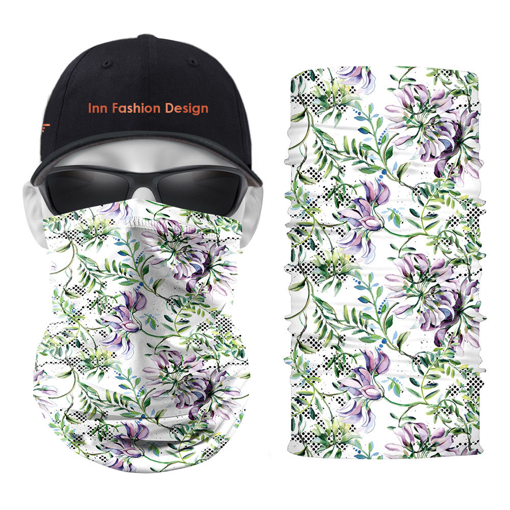 Floral Polyester Headscarf for Multipurpose