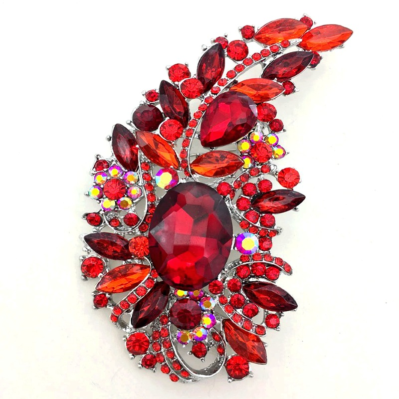 Single Zinc Alloy Paisley Pin for Decorating Gowns
