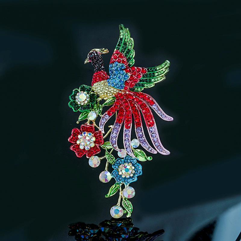 Fancy Winged Birds Brooch for Cocktail Parties