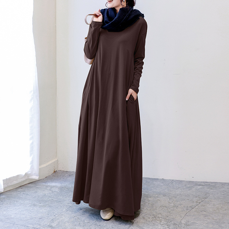 Super Loose Long Sleeve Maxi Dress for Comfortable But Still Classy Look