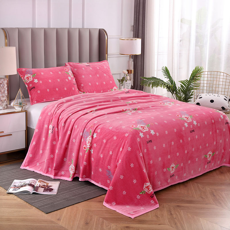 Colorful Flowers and Apples Warm Blanket Collection