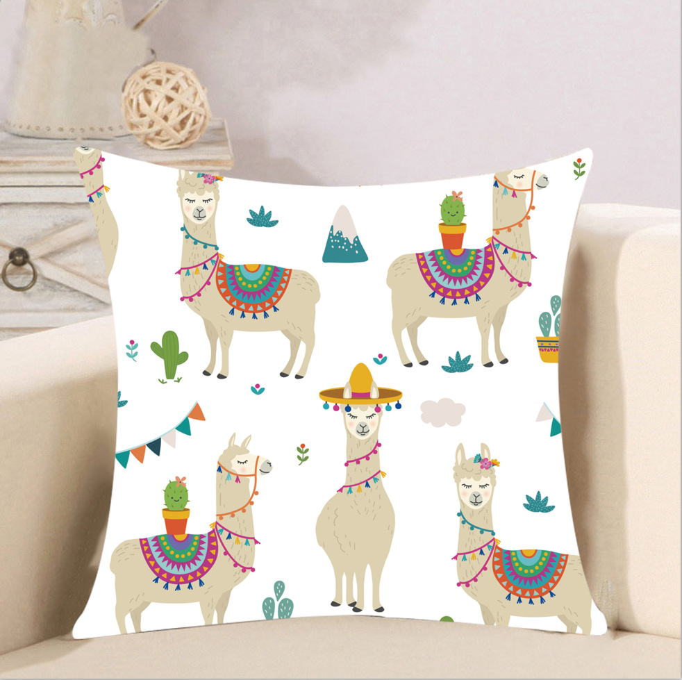 Adorable Animal-Printed Cushion Cover for Everyday Modern Designs