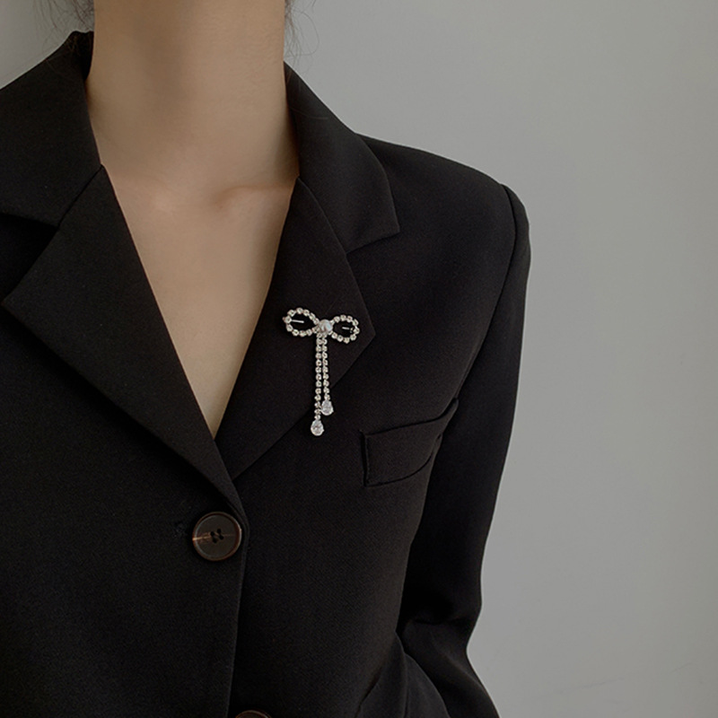 Bedazzled Ribbon Pins for Blazers