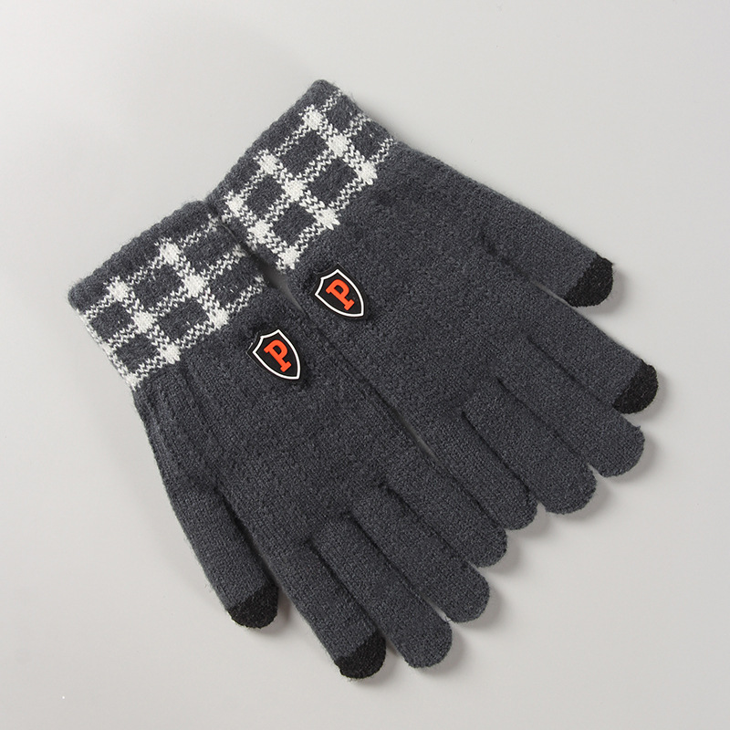 Thick Faux Cashmere Knitted Gloves for Winter Season