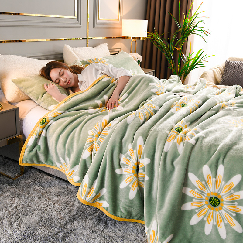 Thick Patterned Blankets for Cozy Bedrooms