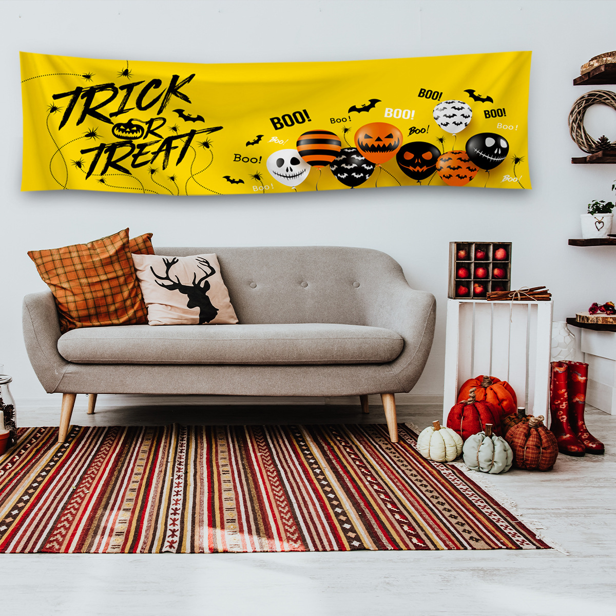 Spooky 'Trick or Treat' Banner for Halloween Decoration Inspiration