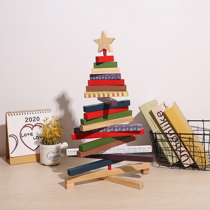 Creative Brick Christmas Tree Ornament for Holiday Decorations