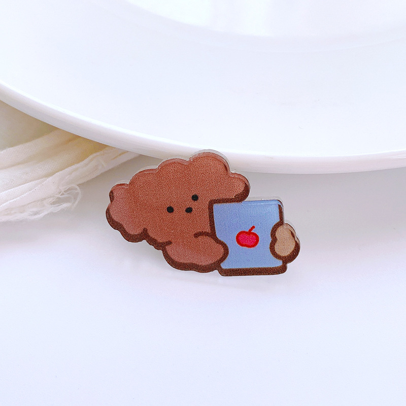 Charming Bunny and Bear Pin Collection for Kids Clothing