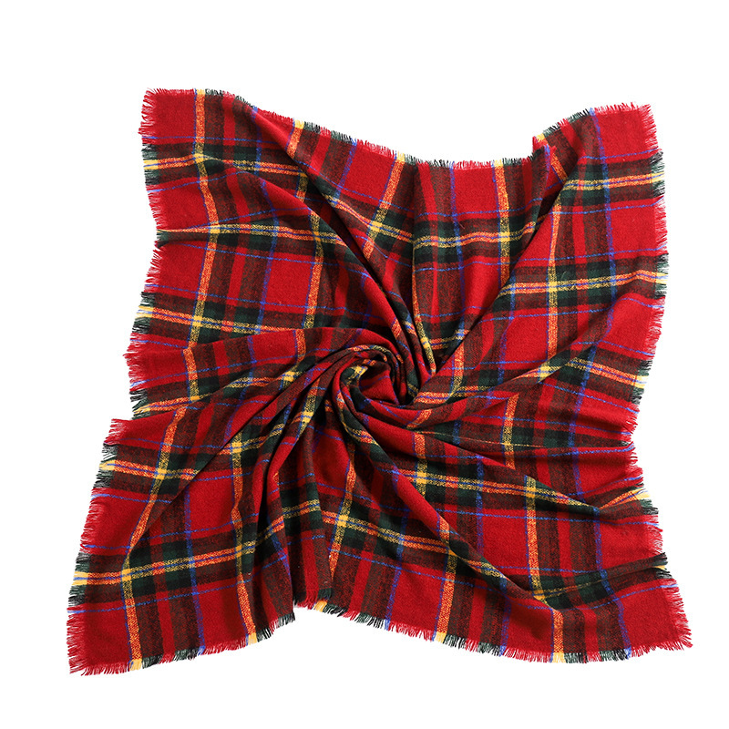 First-Rate Tartan Pattern Head Scarf for Hair Protection from Dust and Sunlight