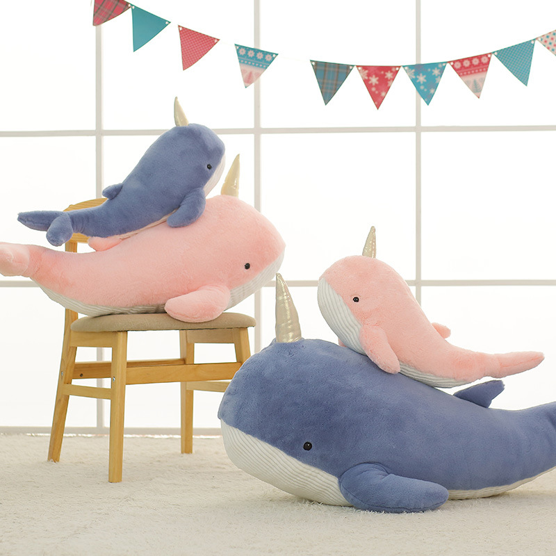Mystical Golden Horn Whale Toy
