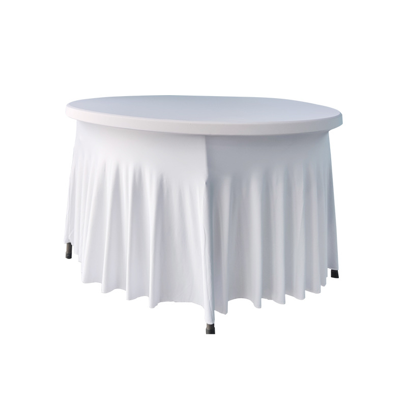 Austere Round Table Skirt for Improving the Poshness of Your Dining Area