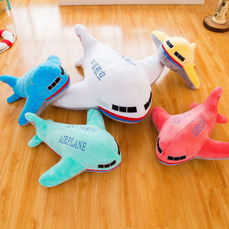 Colored Airplane Plushies