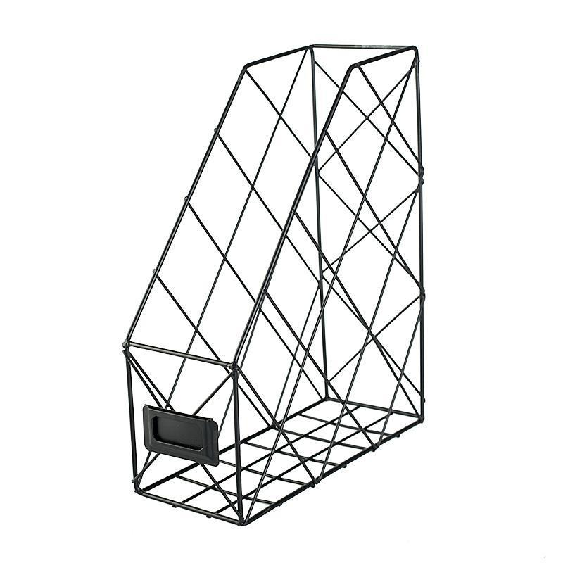 Nordic Abstract Lines Document Rack for Modern Office Spaces