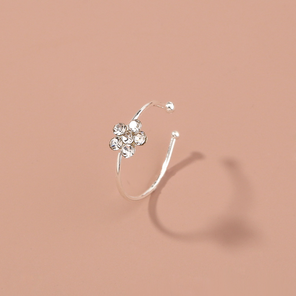 Flattering Flower Alloy Nose Ring for Nose Ornaments
