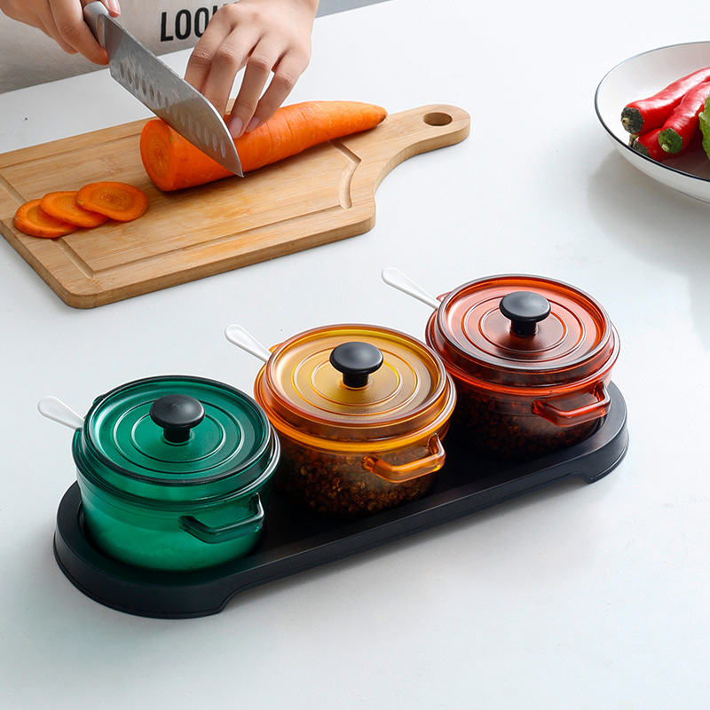 Round and Square Nordic Seasoning Containers for Modern Kitchens