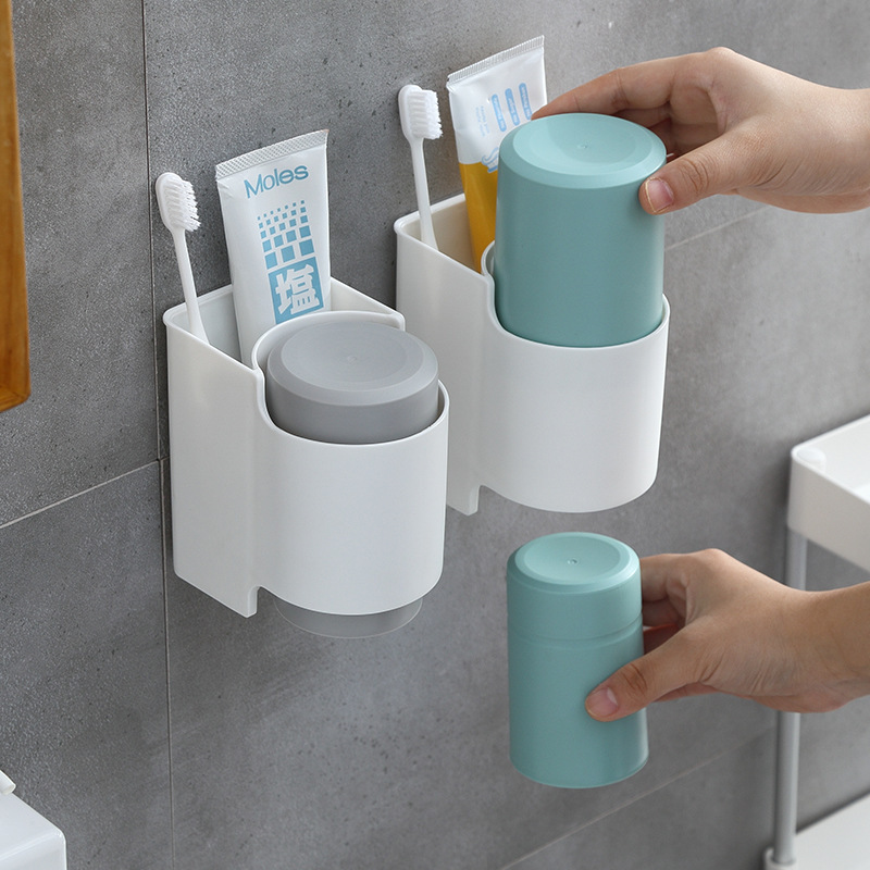 Creative Magnetic Toothbrush Rack for Powder Rooms