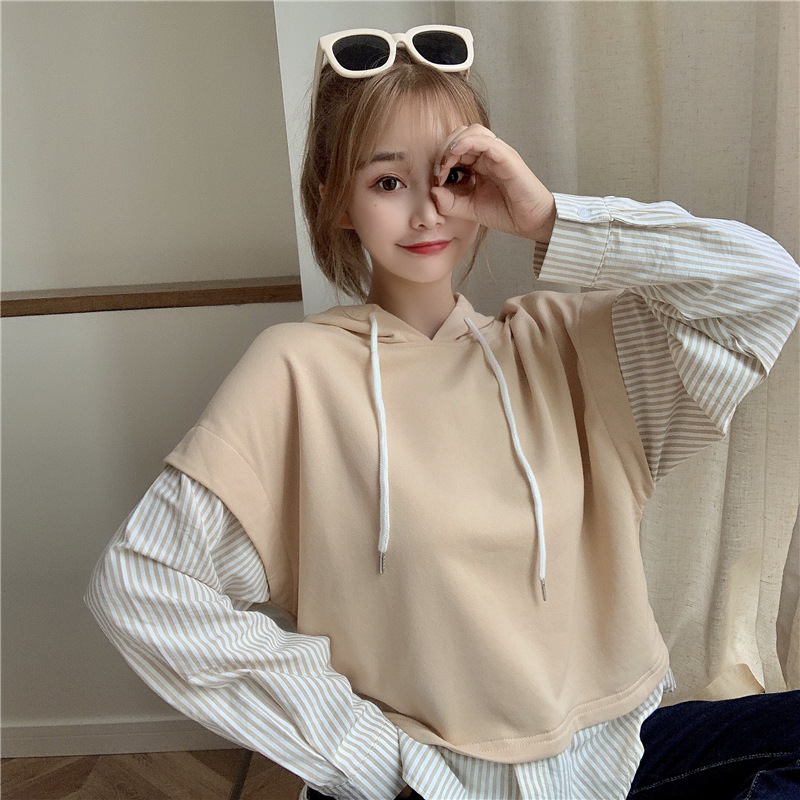 Trendy Two-Piece Sweater Top for Coffee Runs