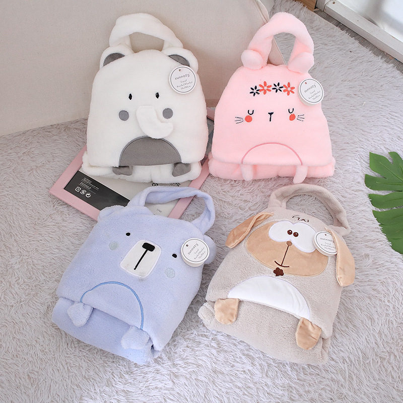Portable Baby Blanket with Handle for Baby Trips