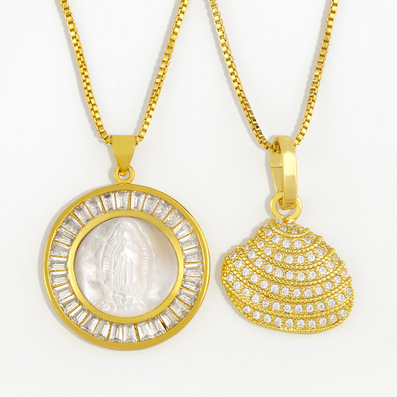 Lavish Shell Shaped Gold Plated Copper Necklaces for Fashionable Looks