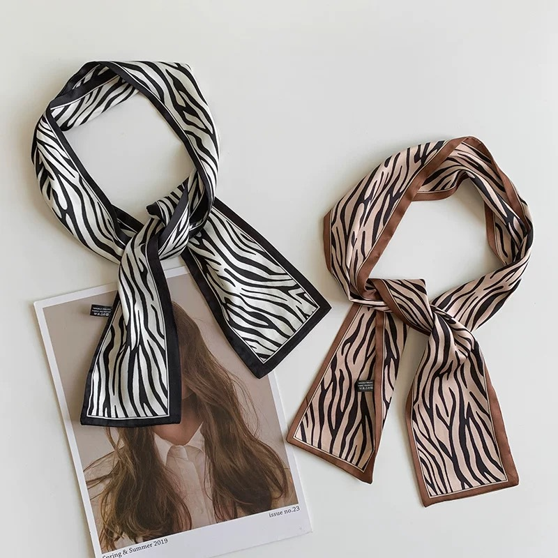 Eye-catching Animal Pattern Hair Ribbon Scarf for Casual Look