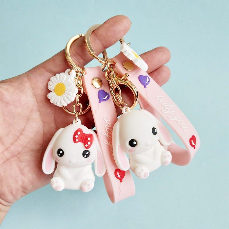 Adorable Only You Keychain with Cute Bunny for Couples