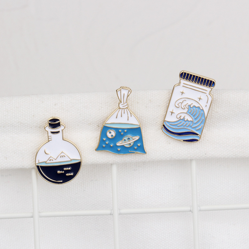 Aesthetic Nautical Jar Brooch for Clothing Accessories