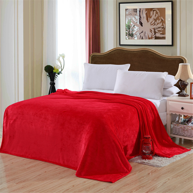Double Sided Pure Color Blanket