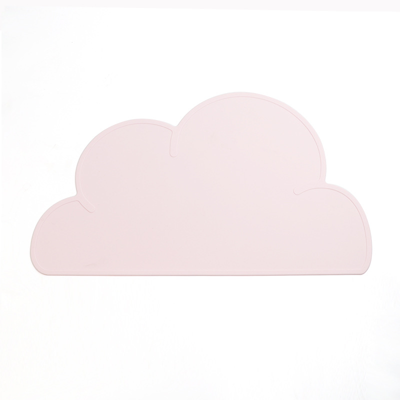 Adorable Spill-Proof Children's Cloud Silicone Table Mats for Messy Eater Babies
