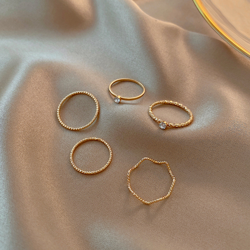 Ultra Fine Thin Rings (5 Pieces/Set)