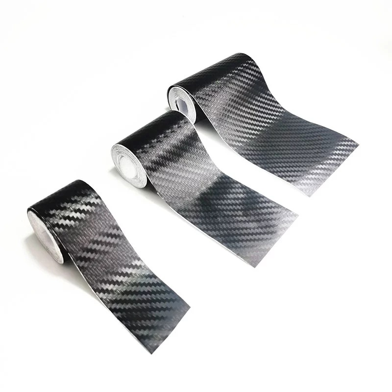 Multi-Functional Waterproof Carbon Fiber Car Sticker for Beautifying and Preventing Scratches