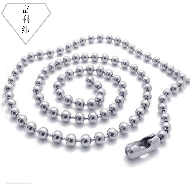 Simple Stainless Bead Necklace for Business Sale
