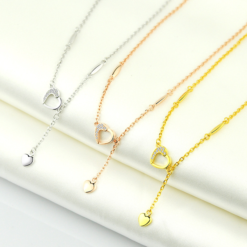 Exquisite S925 Sterling Silver Anklet with Heart Pendant for Matching Chic Outfits